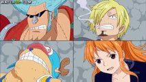 One Piece funny scene - Sanji, Franky, Nami and Chopper body switch