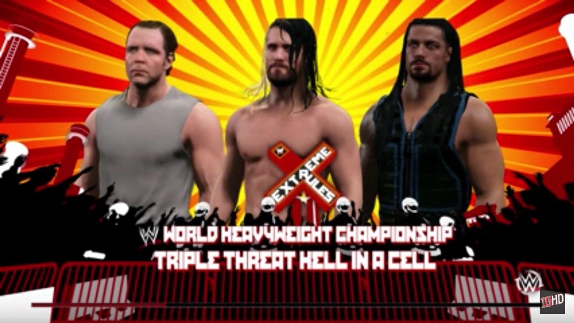 WWE 2K15 Dream Match - Dean Ambrose vs. Roman Reigns vs. Seth Rollins | WWE Extreme Rules | WWE 2K15