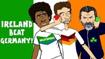 Muller, Keane and Dante in IRELAND 1-0 GERMANY! (Goals Highlights Funny Cartoon Euro 2016