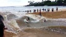 Surfer Makes The Best of Flood | Ocean/River Hybrid Surfing