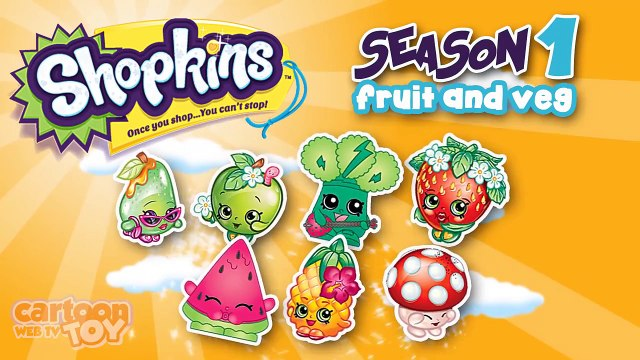 Shopkins Season 1 Fruit and Veg Team Characters by Cartoons Toy WebTV