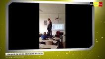 Une professeur de biologie se déshabille pendant son cours
