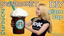 How To Make Giant Starbucks Cup - DIY Starbucks Storage Bucket (StarBuckET)