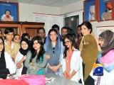 Aseefa visits Lyari General Hospital