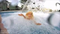 Mermaid Barbie Swimming Underwater In Swimming Pool Water Toy Diving Role Play Doll