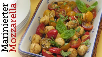 Rezept - Marinierter Mozzarella mit Tomaten (Red Kitchen - Folge 345)