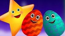 Surprise Eggs Nursery Rhymes  Twinkle Twinkle Little Star  Learn Colours & Objects