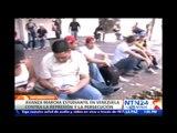 Jornada de protestas en Venezuela para exigir la liberación de los alcaldes y estudiantes detenidos
