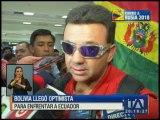 Selección de Bolivia llegó a Quito acompañada de pocos hinchas