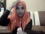 Cara memakai jilbab Segi Empat Modern -