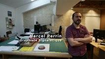 """La Petite Galerie du Louvre : interview de Marcel Perrin, graphiste, concepteur de la signalétique de l'exposition """"Mythes fondateurs"""""""