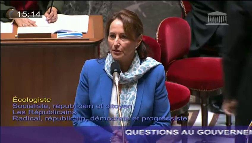 Ligne Lyon-Turin : Ségolène Royal répond à une question au Gouvernement