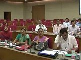 Gandhinagar Meeting on Health Check-up for school students with Nitin Patel & Ramanlal Vora