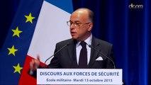 Discours de Bernard Cazeneuve aux forces de sécurité : thème de la lutte contre l'insécurité routière