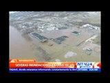 Fuertes lluvias provocan grandes inundaciones en Ohio, EE.UU.