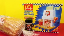 McDonalds Happy Meal Magic FRENCH FRY Maker Playset & Vintage McDonalds Food Toys DisneyCarToys