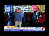 Cientos de personas marchan en NY para expresar rechazo por casos de abuso de autoridad en EE.UU.