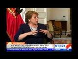 """""""Seguiremos apoyando el proceso de paz en Colombia"""":Bachelet en entrevista con NTN24 y RCN Radio"""