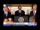 """""""Hagel ha fortalecido el liderazgo de Estados Unidos en el mundo"""": Obama sobre renuncia de Hagel"""