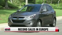 Hyundai Motor's Europe sales hit record monthly high in Sept.