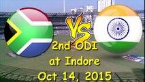 Watch Live India v South Africa 2nd ODI at Holkar Cricket Stadium, indorer, 14 October, 2015
