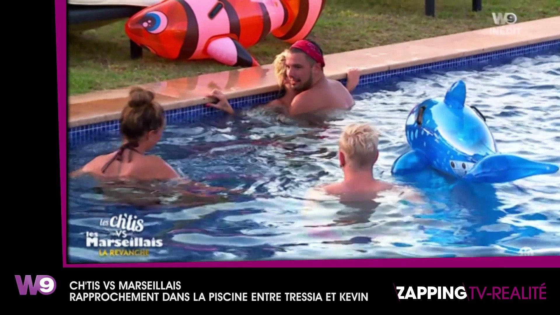 Gaelle Chti Nue les ch'tis vs les marseillais : kevin et tressia se rapprochent dans la piscine