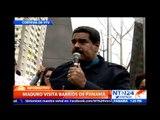 Presidente Maduro visitó barriada panameña y gritó consignas contra la invasión estadounidense