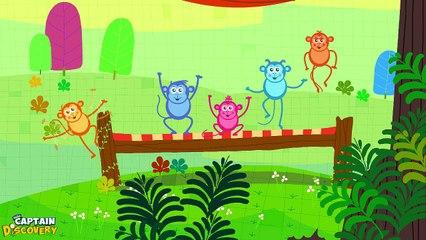 Five Little Monkeys Version 1 - Nursery Rhyme