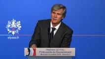 Point de presse de Stéphane Le Foll, porte-parole du Gouvernement, le 14 octobre 2015