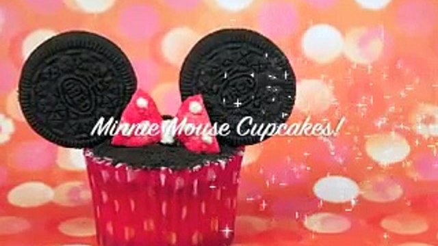 MINNIE MOUSE CUPCAKES! Decorate these gorgeous disney cookies and cream cupcakes