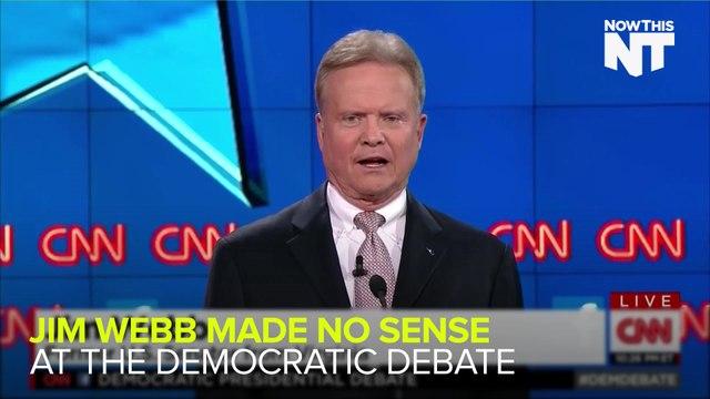 Jim Webb Seemed Off Throughout The Democratic Debate