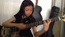Dragon Force - Through the Fire and Flames (Cover By Ayu Gusfanz) 10 Years Old From Indonesia