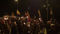 Marxa de torxes a Montjuïc per Lluís Companys