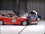 Mercedes C vs smart fortwo Crash test compatibilità IIHS, Sicurauto.it