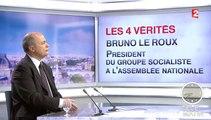 """4 Vérités : La CGT """"a tort de légitimer la violence"""", déclare Bruno Le Roux"""