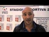 Icaro Sport. La prima intervista da allenatore del Rimini di Oscar Brevi