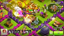 Clash of Clans-DESTROYING A TOWN HALL!! SPELLS ONLY! WTF! Funny Moments+NEW BARCH 2.0!!