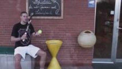 First Tennis Trick Shot Video