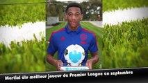 Premier League, Martial élu meilleur joueur du mois de septembre