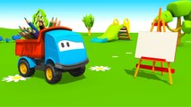 Léo le camion curieux Le toboggan et ses couleurs   Dessins animés en français