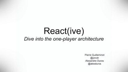[Meet-Up] ReactJS & Reactive Programming