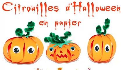 citrouille d'Halloween en papier