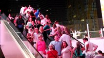 Escalator Pickpocketing in Vegas (SOCIAL EXPERIMENT) Pranks on People Funny Pranks Pranks