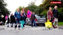 Saint-Brieuc. Manifestation des inspecteurs du travail