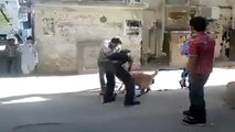 Pit Bull Undressed Man While Attacking | Dogs Attack | Pit Bulls Attack | Animals Attack