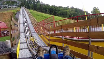 Coaster at Goats on the Roof on-ride HD POV @60fps