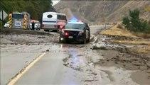 Etats-Unis : une coulée de boue immobilise 115 voitures et 75 camions sur une autoroute californienne