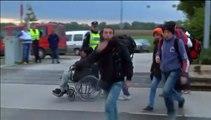 Dernier train de migrants de la Croatie vers la Hongrie, la Hongrie ferme frontière
