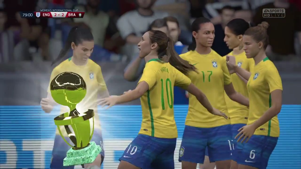 FIFA 16 Final Women's Int Cup Final : England vs Brazil (PS4)