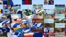 Legoland Floating Lego Bricks in Pool! Mickey Mouse Peppa Pig Rex Visit Legoland with Hobb